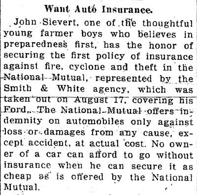 11-20-2010 Sievert: Auto insurance 1916