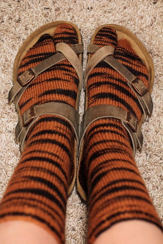 Tiger Sandal Socks
