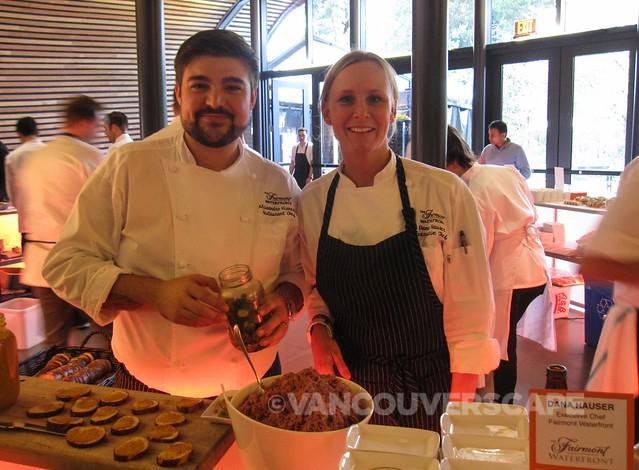 Fairmont Waterfront's Chefs Alessandro Vianello, Dana Hauser