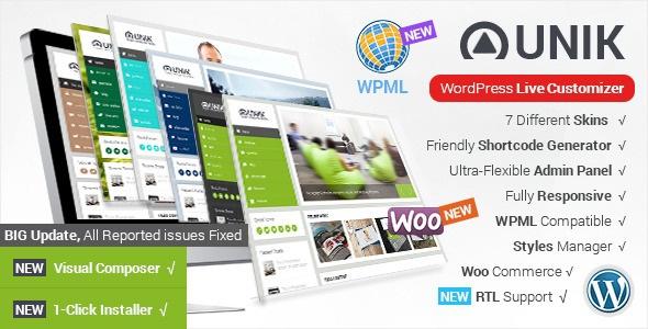 Unik v1.8 - Ultra-Customizable WordPress Theme