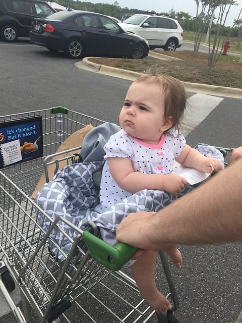 first time in the grocery cart