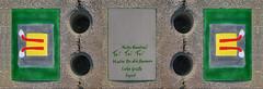 """Postcard """"Good Luck"""" to Karolina (from a Construction Site) Ansichtskarte Antwort: Glück Wünsche (Baustelle Otto Wagner Spital am Steinhof Spiegel Grund Mirror Ground Pavillon Severin) mail art"""