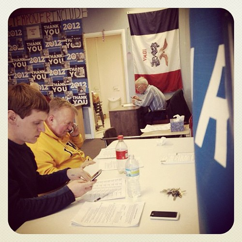 #ia2012 vols in Sioux City putting the Sioux in #SiouxperStars at a Tuesday phone bank.