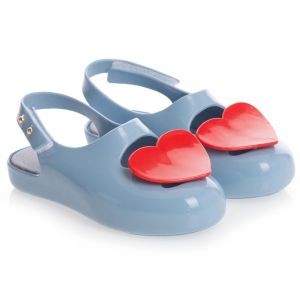 Vivienne Westwood For Mini Melissa Blue Heart Shoes