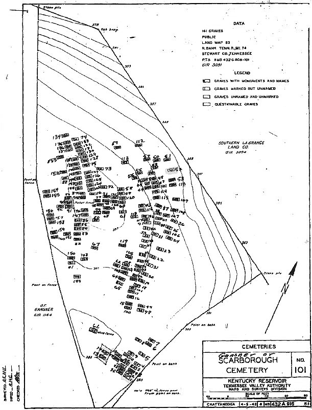 Bomar Hill Cemetery Map Pre-Disinterment