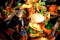seafood boil(0.0), paella(0.0), fish(0.0), invertebrate(0.0), meal(1.0), seafood(1.0), bouillabaisse(1.0), food(1.0), dish(1.0), cuisine(1.0), mussel(1.0),