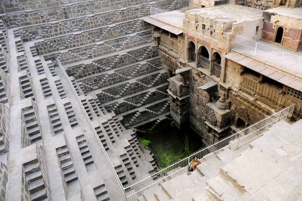 The Chand Baori stepwell at Abhaneri