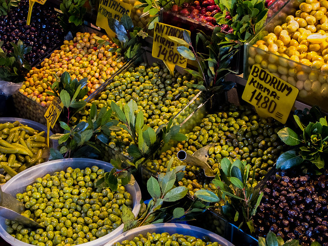 Olive Market in Istanbul