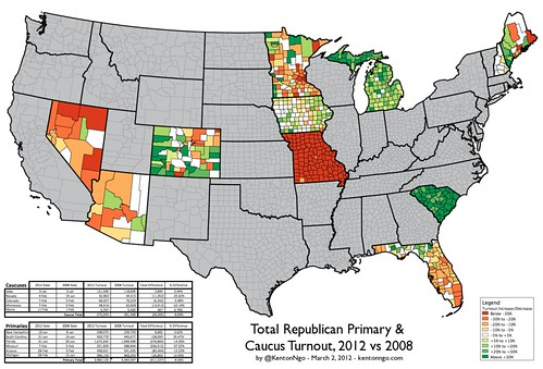 2008-2012 Republican Primary Turnout v1