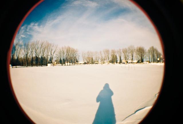 L'horizon dans un rond