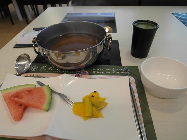 精力湯、水果與前菜