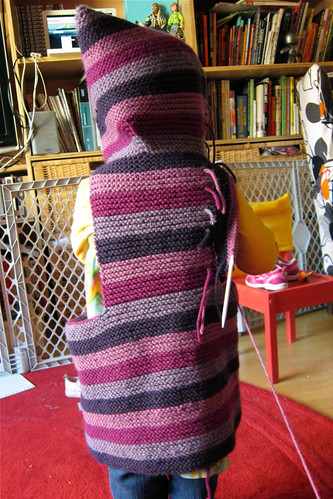 Striped Toddler Tomten Jacket in progress