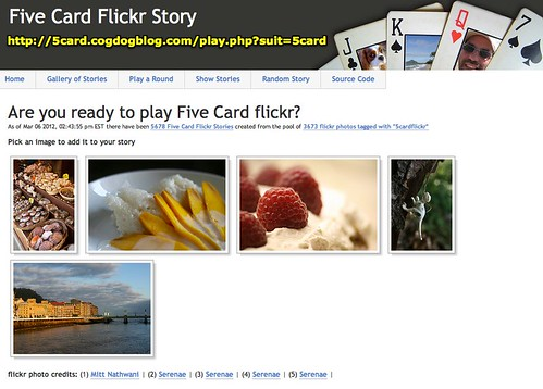 Are you ready to play Five Card flickr?