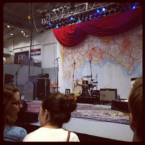 Oh we are so close to the stage!