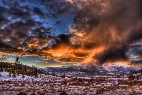 winter sunset sky mountain snow nature clouds landscape colorado dillon keystone breckenridge hdr facebook lakedillon silverthorne icecastles 201203
