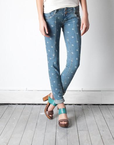 Jeans Pitillo Fantasia -Azul Cielo-