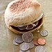 English Muffin Coin Purse