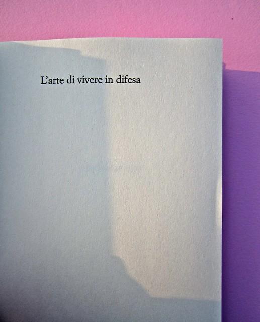 Chad Harbach, L'arte di vivere in difesa. Rizzoli 2011. Art director Francesca Leoneschi; graphic designer: Andrea Cavallini. Pag. 5 (part.), 1