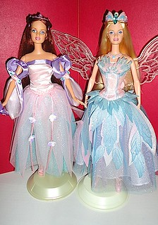 Fairy Queen and Odette from Swan Lake dolls