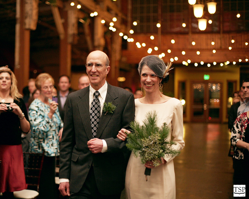 Father of Bride and Bride at Sodo Park
