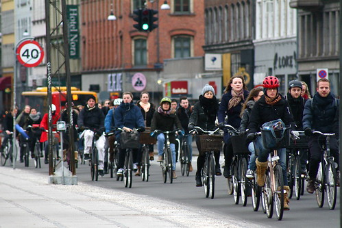 Bike Rush Hour in a bicycle friendly city. San Diego should aim to reach and then exceed the expectations of a bicycle friendly city. Photo: flickr/Nuuttipukki