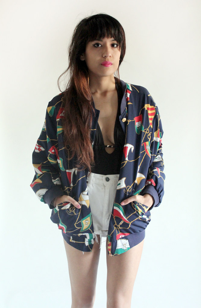 Tarte Vintage Nautical Ships Bomber Jacket (available on shoptarte.com)