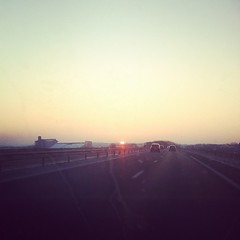 On the #road again #car #sunrise - Photo of Saint-Maixent-l'École