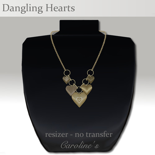 Caroline's Jewelry Dangling Hearts
