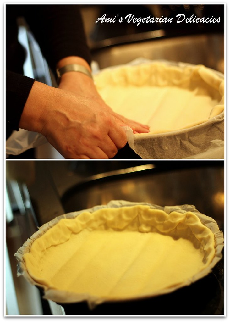 Layering the dough for Apple Tarte