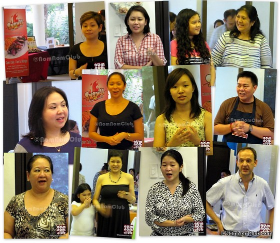 Food Cencessionaires who explained their delicacies led by Ms. Gwen Carino