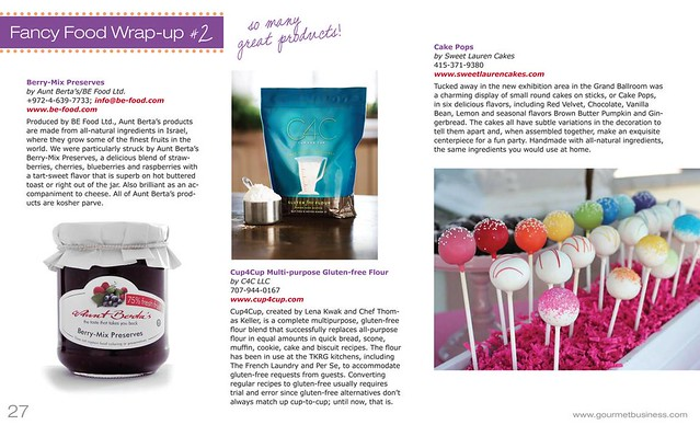 Cake Pops on Page 27 of Gourmet Business