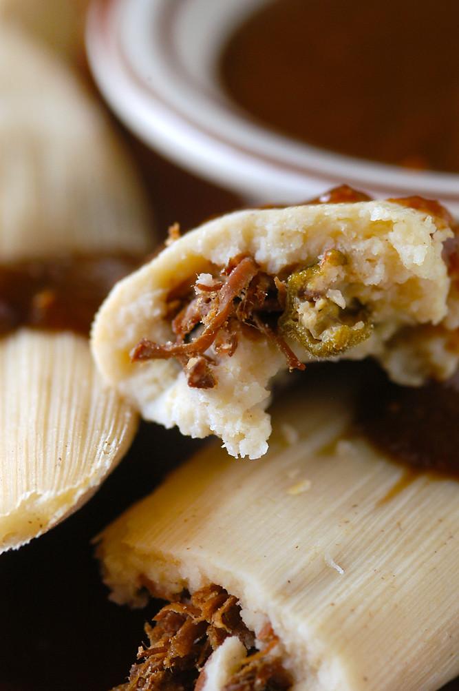 short rib okra tamales
