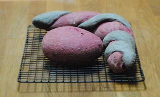 Beet & Squid Ink Bread