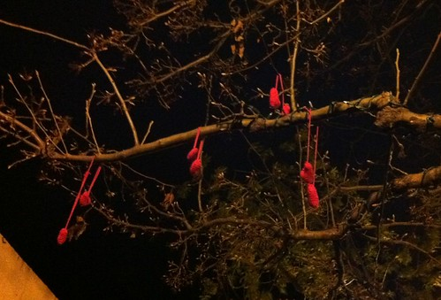 We did it again. #yarnbomb #valentine