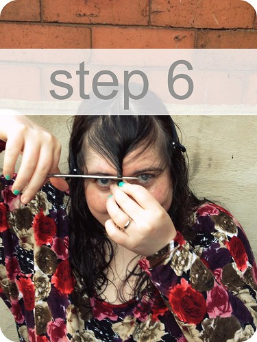 How to cut your fringe at home
