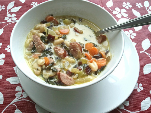 Sausage Bean & Greens Soup by ezri_b