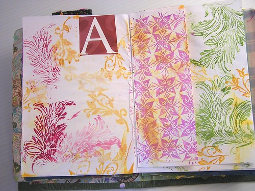 Art Journal page - A - replenish