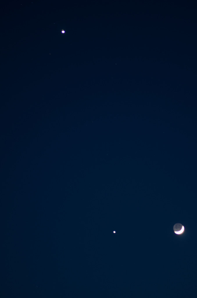 Moon, Venus & Jupiter Conjunction