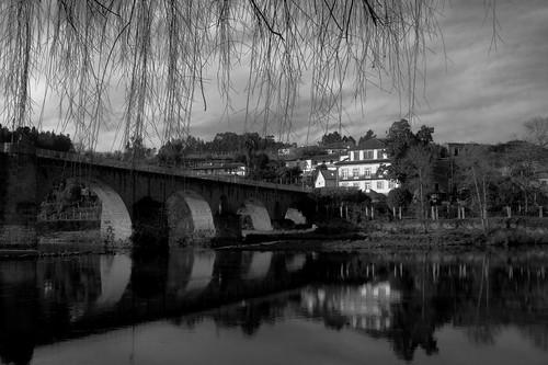"""Ponte da Barca, Portugal """"Rio Lima"""" B&W by @uroraboreal"""