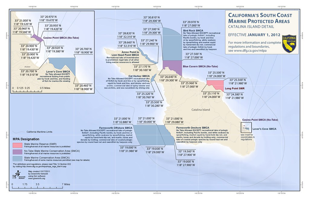 Catalina MPA Map for Fisherman