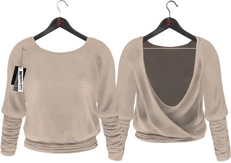 Maitreya Mesh Athena Sweater  Creme, 300 lindens by Cherokeeh Asteria