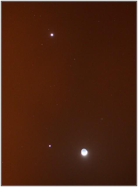 Venus + Júpiter + Luna