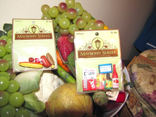 tiny fake foods; regular fake foods
