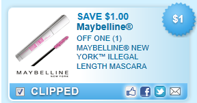 Maybelline NY Illegal Length Mascara Coupon