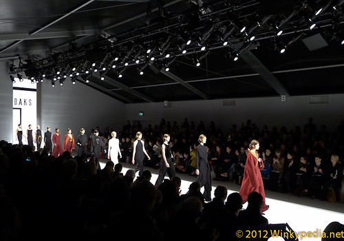 Daks catwalk,  London Fashion Week 2012
