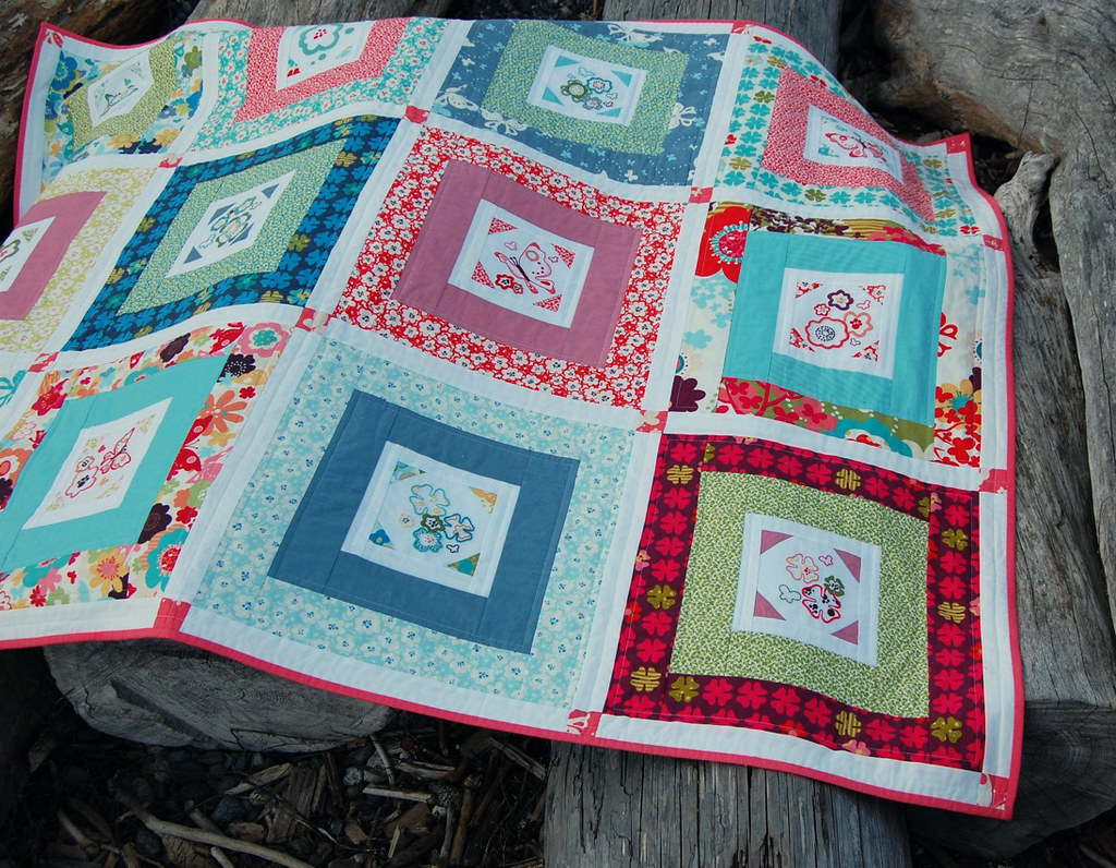 Just Wing It (Embroidery 101) Quilt -- Front