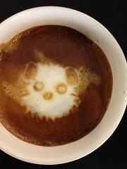 Today's latte, もずく、ウォーキング!