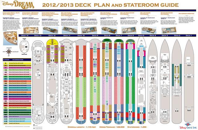 2012/2013 Disney Dream Deck Plan