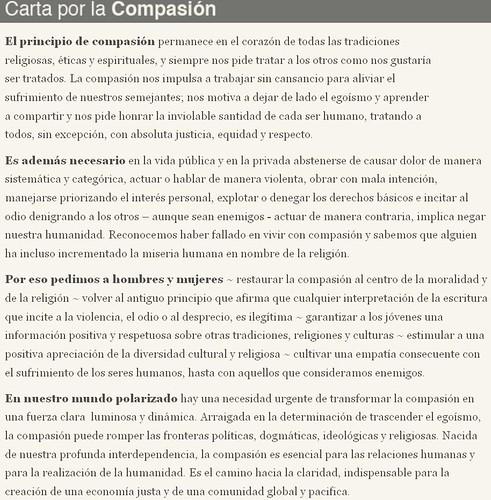 Carta Por La Compasión