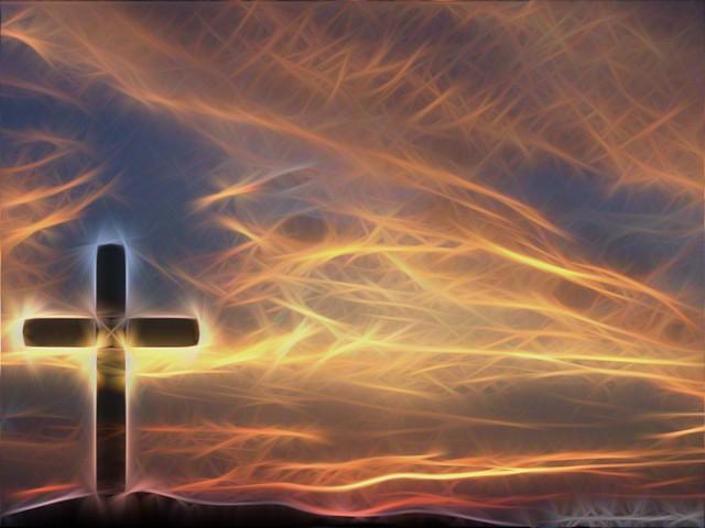 Cross & Sky Christian Wallpaper Background a GIMP edit of ...